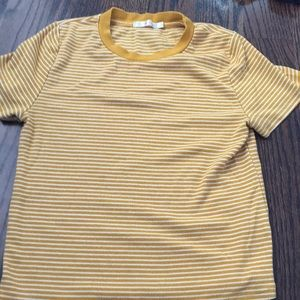 Short sleeve striped shirt from Charlotte Russe